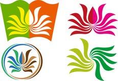 Bok med lotusblommadesign Arkivfoton