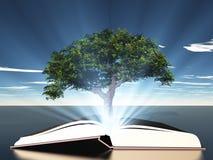 Bok med trädet stock illustrationer