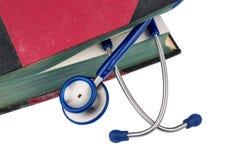 Bok och stetoskop Royaltyfri Fotografi