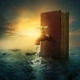 Bok och vattenkran Arkivbild