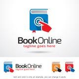 Bok online-Logo Template Design Vector Arkivfoton