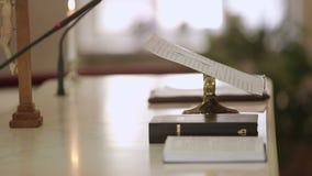 Bok på kyrkan lager videofilmer