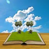 bok som är öppen till världen Royaltyfri Fotografi