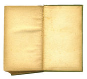 bok som presenterar gammal öppen paper ungefärlig textur Royaltyfri Foto