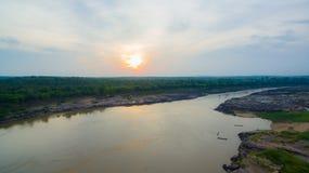 3000 bok unseen mooie rots van Mekong Royalty-vrije Stock Foto's