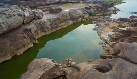 3000 bok unseen mooie rots van Mekong Royalty-vrije Stock Afbeelding