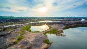 3000 bok unseen mooie rots van Mekong Royalty-vrije Stock Fotografie