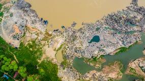3000 bok unseen mooie rots van Mekong Stock Foto's