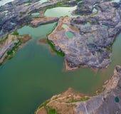 3000 bok unseen mooie rots van Mekong Stock Foto