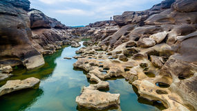 3000 bok unseen mooie rots van Mekong Royalty-vrije Stock Foto