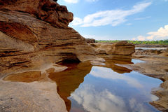 3000 bok 2558. Unseen Thailand grand canyon 3000 bok at ubonratchathani Royalty Free Stock Images