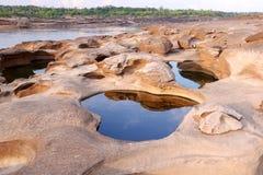 3000 bok 2558. Unseen Thailand grand canyon 3000 bok at ubonratchathani Royalty Free Stock Photos