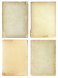 bok vita isolerade gammala sidor som ställs in Arkivbilder