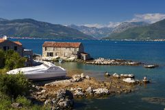 Boka Bay Montenegro Stock Photo