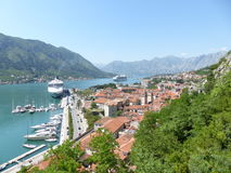 Boka Kotor. Harbour in Boka Kotor, historical old town UNESCO, Monte Negro Royalty Free Stock Photos