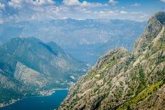Boka Kotor podpalany skalisty krajobraz Obraz Royalty Free