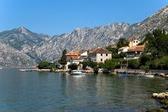 Boka Kotor Schacht in Montenegro lizenzfreie stockfotos