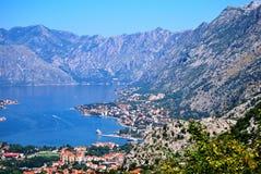 Boka Kotorska. Kotor bay exquisite sea. Montenegro Stock Photography