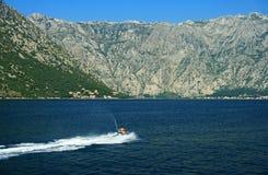 Boka Kotorska. The Bay of Kotor, Montenegro stock photo