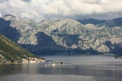 Boka Kotorska, baía de Kotor, Montenegro Foto de Stock Royalty Free