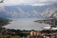 Boka Kotorska, baie de Kotor, Monténégro Images libres de droits