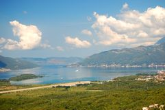 Spectacular and picturesque view on Boka Kotorska  Stock Photo