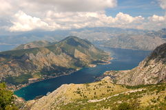 Spectacular and picturesque view on Boka Kotorska royalty free stock photography