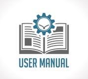 Boka som kunskapsgrunden - handbok för användarehandbok royaltyfri illustrationer
