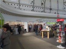 Boka världen Prague 2017 - den 23rd internationella bokmarknaden och den litterära festivalen Arkivbilder