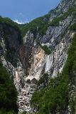 Boka waterfall , Julian alps , Slovenia Stock Photography