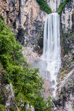 Boka waterfall in Bovec, Slovenia Royalty Free Stock Images