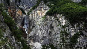 Boka waterfall , Julian alps , Slovenia Stock Image