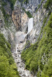 Boka waterfall in Slovenia Stock Photos