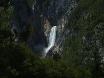 Boka waterfall (Slovenia) Royalty Free Stock Image