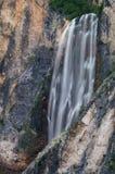 Boka waterfall in Triglav National Park Royalty Free Stock Photo