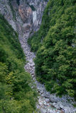 Boka waterfall in Triglav National Park, Slovenia Royalty Free Stock Photography