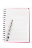 bokanmärkning över penna Royaltyfri Foto