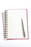 bokanmärkning över penna Arkivbilder