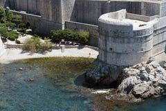 bokar杜布罗夫尼克市堡垒 免版税库存照片