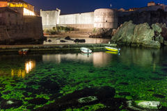 Bokar Fort at night. Dubrovnik. Croatia Stock Photography
