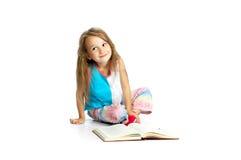 bokbarnavläsning Fotografering för Bildbyråer