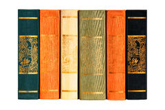 Bokbestånd av sex volymer Royaltyfria Foton