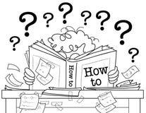 bokbw, hur lära till Arkivbild