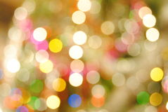 Boke. Garland out of focus Royalty Free Stock Images