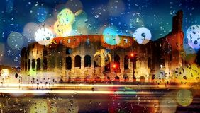 Boke colosseum Italy Royalty Free Stock Photography