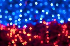 Boke und defocused des Weihnachtsbaums Lizenzfreies Stockfoto