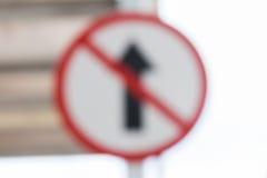 Bokeh交通标志 免版税库存图片