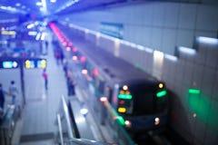 Bokeh和迷离从地铁 免版税图库摄影
