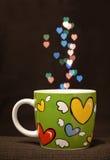 bokeh咖啡五颜六色热 图库摄影