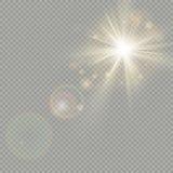 bokeh圈子的作用与太阳亮光的 透镜火光作用 10 eps 皇族释放例证